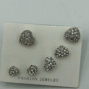 Jewelry - Set Silver similar pair earrings